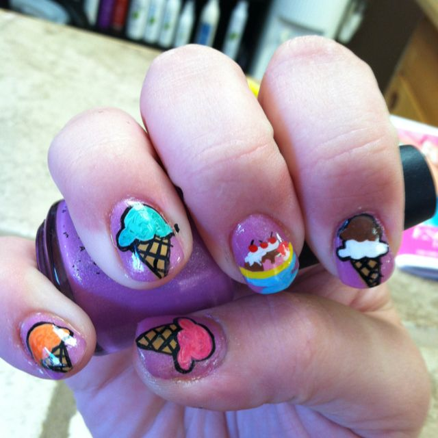 Ice cream nails done by Megan Maurer