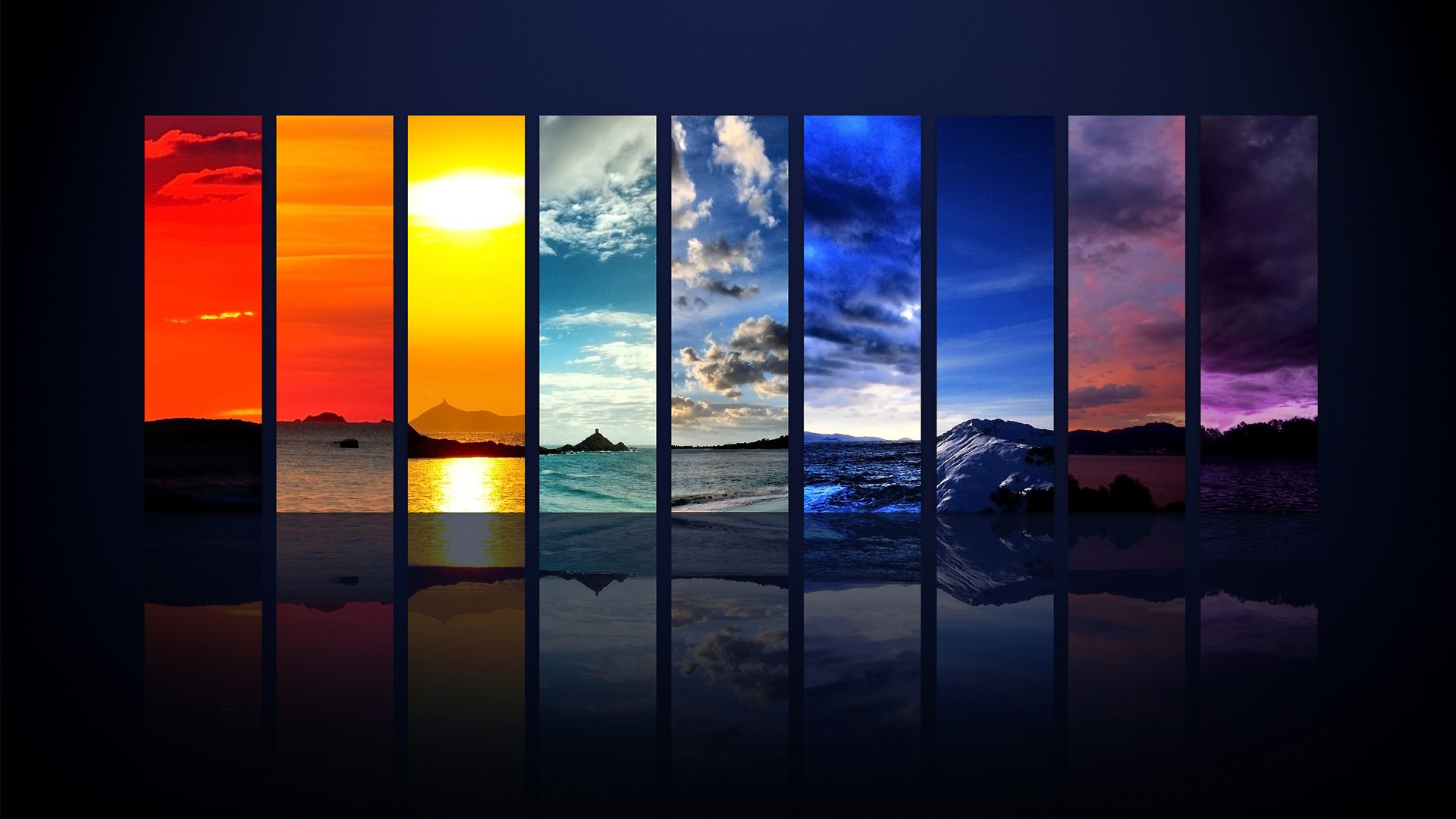 Water Views On A Color Spectrum Cool Desktop Backgrounds Background Hd Wallpaper Desktop Background Pictures