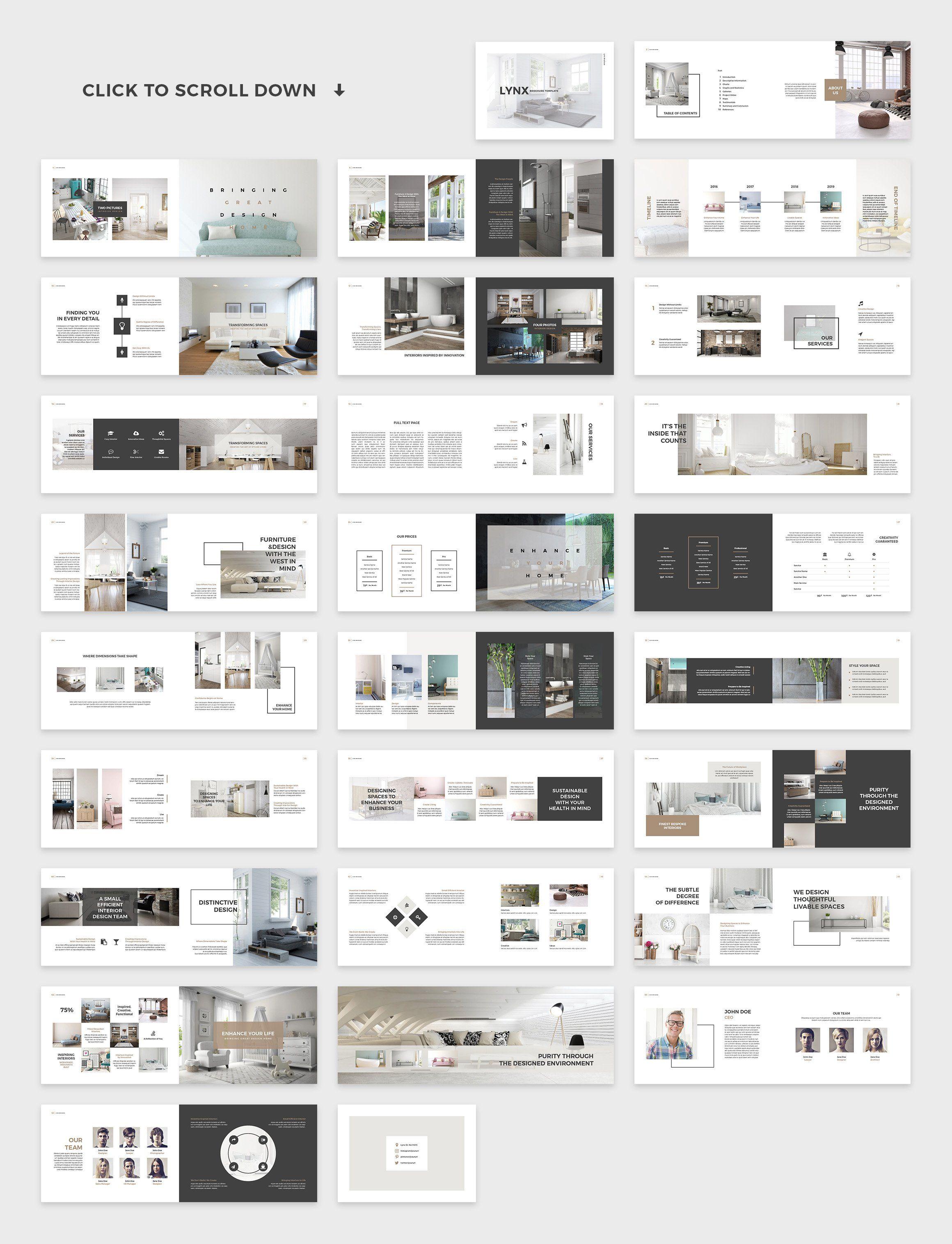 Lynx Brochure Template Interior Design Template Architecture Portfolio Layout Catalog Design Layout