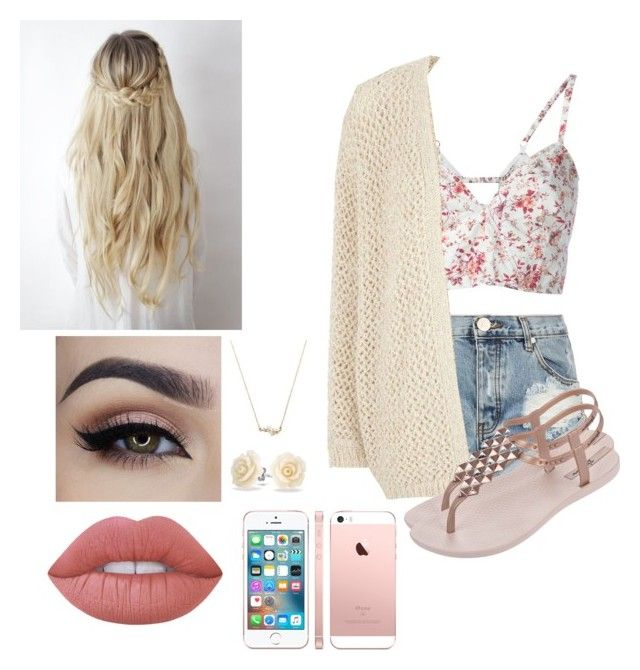 """""""floral pop """" by shortgirlmads ❤ liked on Polyvore featuring Etro, One Teaspoon, River Island, IPANEMA, Lime Crime, Bling Jewelry, Summer, Flowers, iphone and summerstyle"""