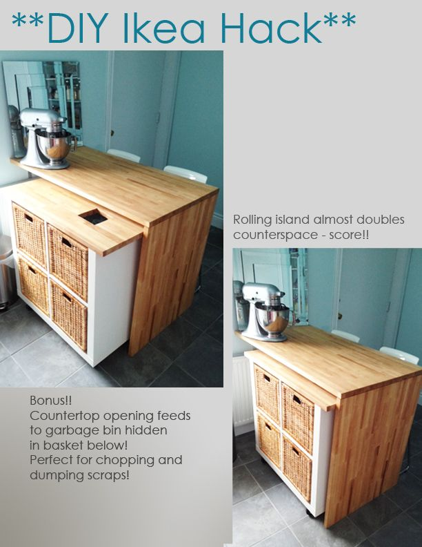 Ikea Hack Diy Kitchen Island Tutorial Eldhus Eyjur Pinterest
