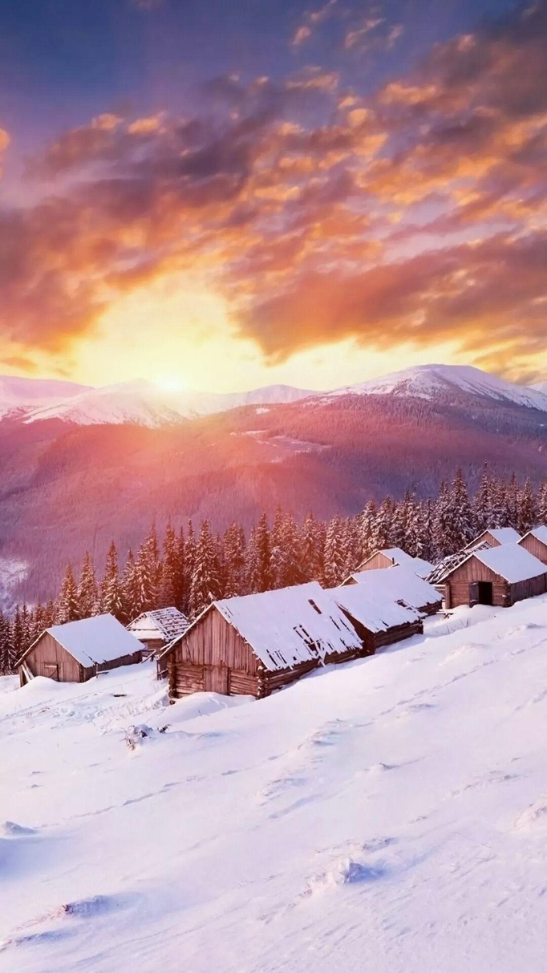 Vermont Winter Iphone Wallpaper