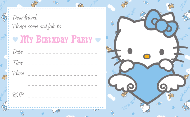Free Download Cute Printables Template: Birthday... Hello Kitty ...