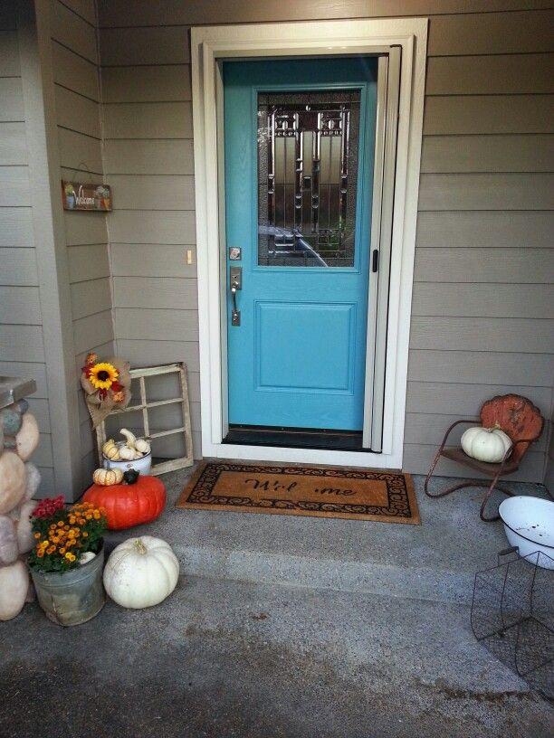 Fall front doorstep.