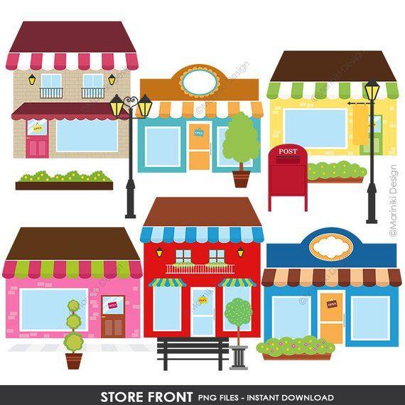 Boutique Store Shop Front Clip Art, Coffee Shop Front ...