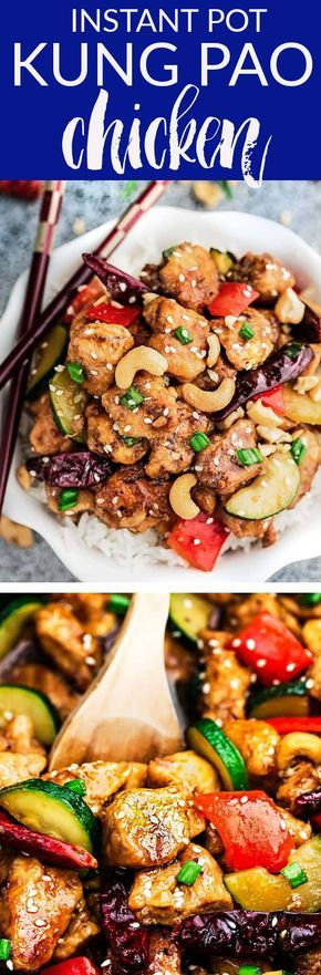 instant pot kung pao chicken  an easy set and forget