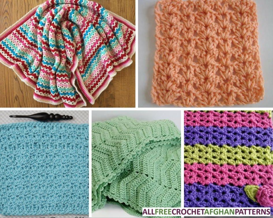 45 V-Stitch Crochet Afghan Patterns | Puntadas, Manta y Hogar