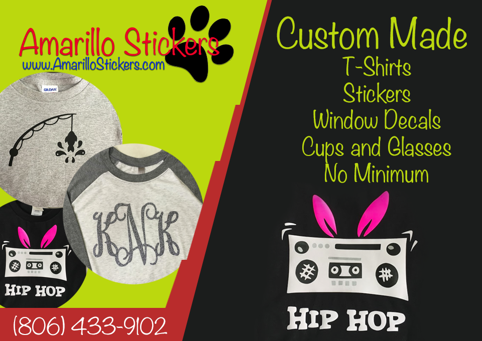 Custom t shirts are only one of the products we offer call 806