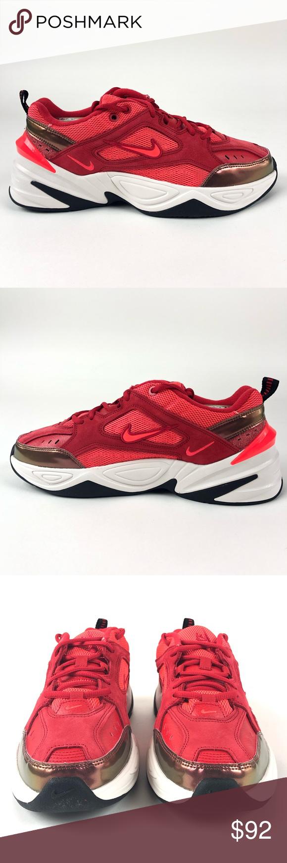Nike M2k Tekno Bright Crimson Shoes Av7030 600 Nike Fashion Size 10 Shoes Clothes Design
