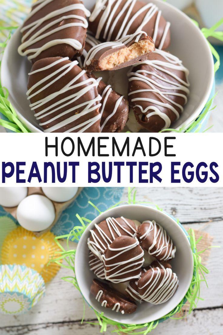 Homemade peanut butter eggs recipe homemade peanut