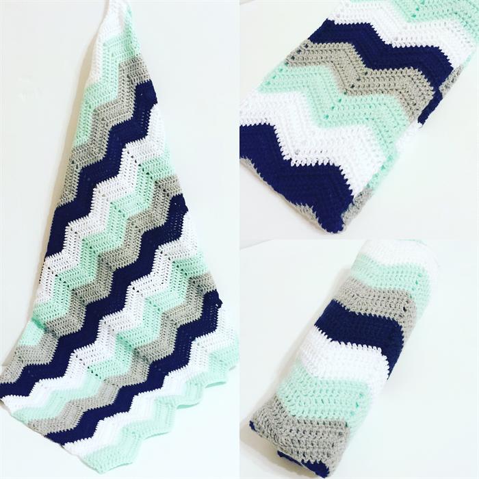 Baby Boys Chevron Blanket… | Knitting | Pinterest | Manta, Tejido y Bebé