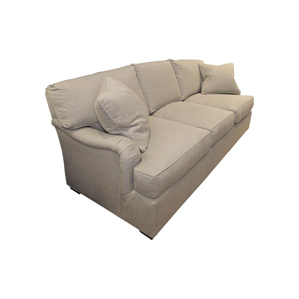 Cool Hickory Chair Custom Linen Sofa Angled View Beach Street Inzonedesignstudio Interior Chair Design Inzonedesignstudiocom