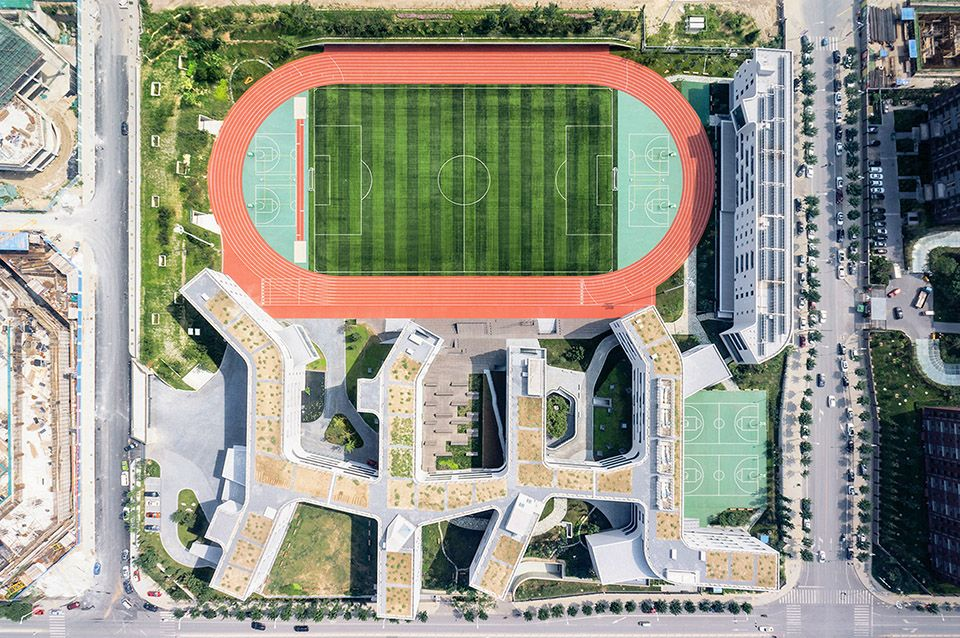 田园学校/北京四中房山校区--来自中国的OPEN建筑事务所 http://www.gooood.hk/beijing-4-high-school-by-open.htm