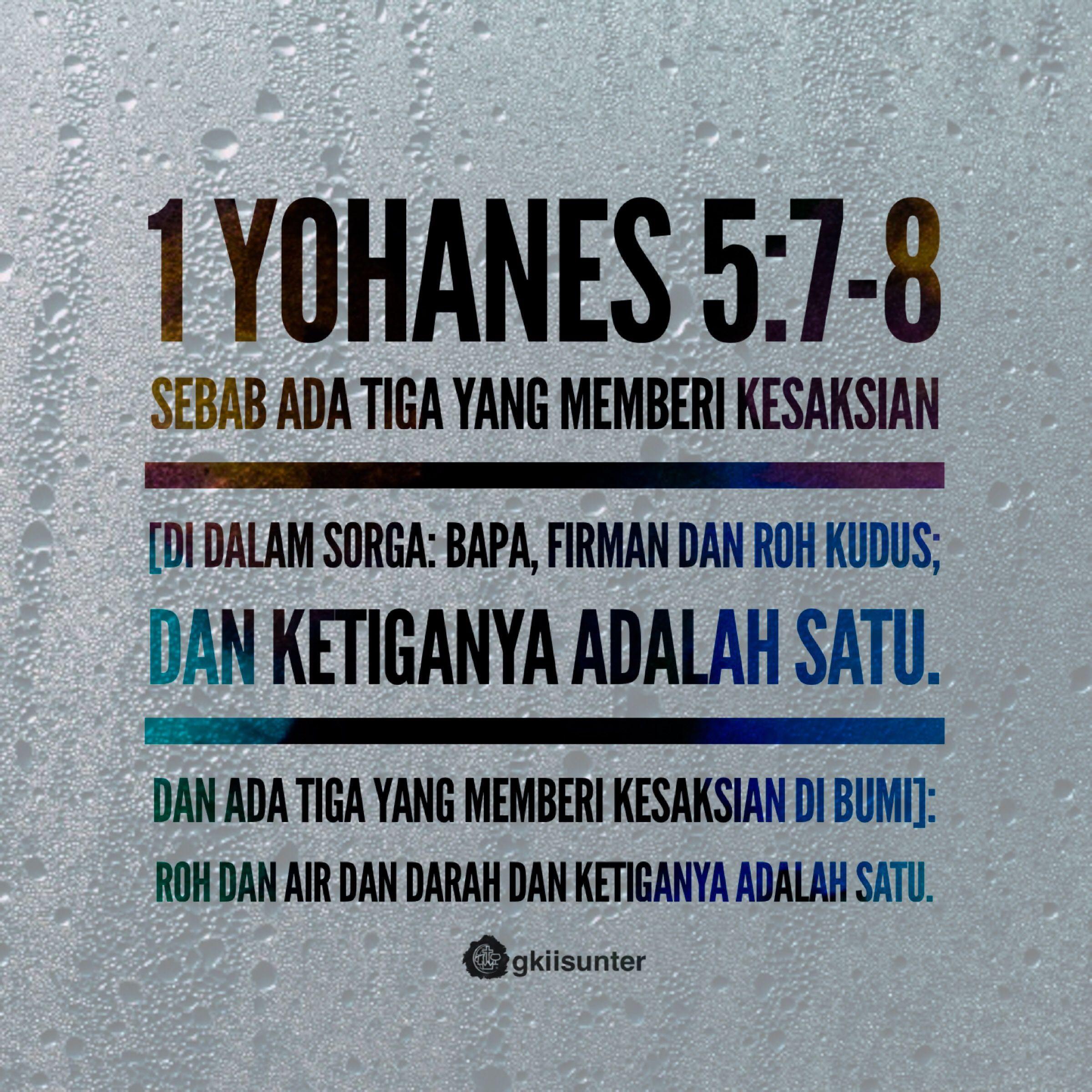 1 Yohanes 5 7 8 Ayat Alkitab Alkitab Hikmat