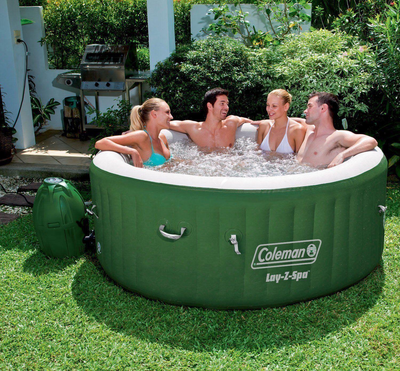 Inflatable Hot Tub Spa Portable Jacuzzi Heated Bubble Jet Massage ...