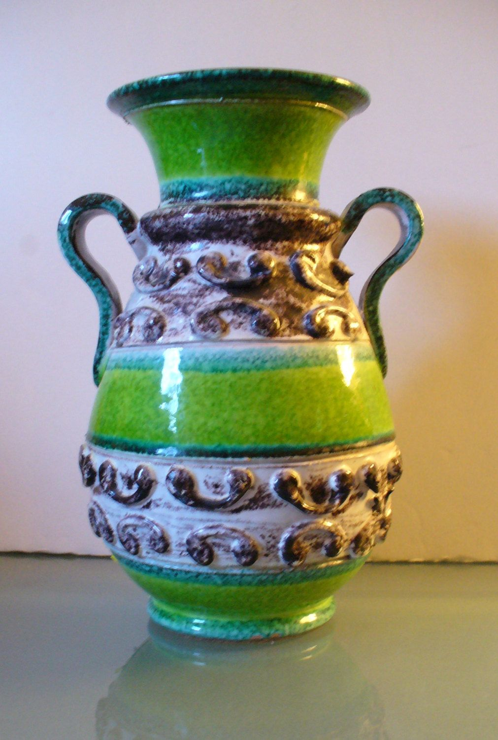 Vintage Large Made In Italy Ceramic Vase By Eurotraaly On Etsy