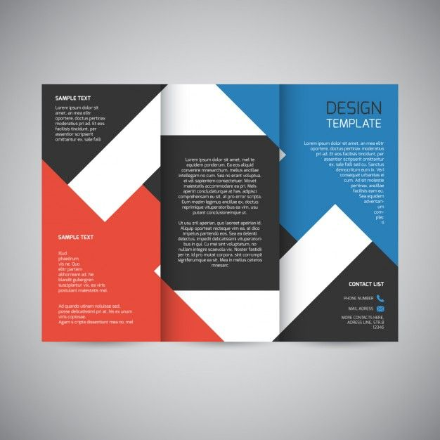 Design a professional business brochure and flyer Business - free tri fold brochure templates word