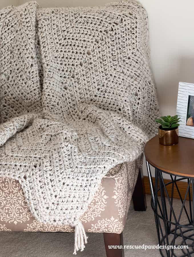 Chunky Chevron Crochet Blanket Pattern Pinterest Chevron Crochet