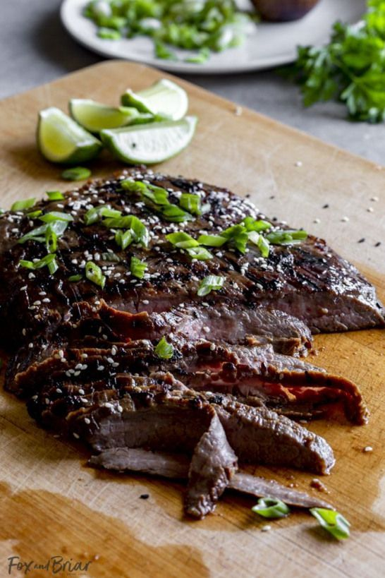 Asian Grilled Flank Steak Recipe - Fox and Briar #asianrecipes #asian #recipes #steak #recipesforflanksteak Asian Grilled Flank Steak Recipe - Fox and Briar #asianrecipes #asian #recipes #steak #recipesforflanksteak