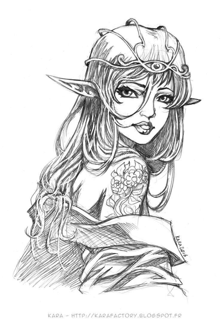 Elf Queen by Karafactory.deviantart.com on @DeviantArt   part-human ...