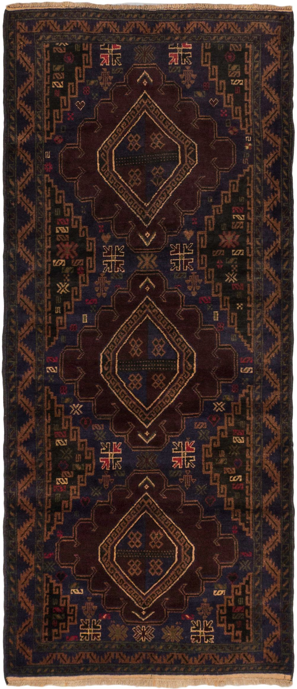 Hand Knotted Royal Baluch Dark Navy Wool Rug 3 0 X 6 11 Ecarpetgallery Navy Wool Rugs Rugs Ecarpetgallery