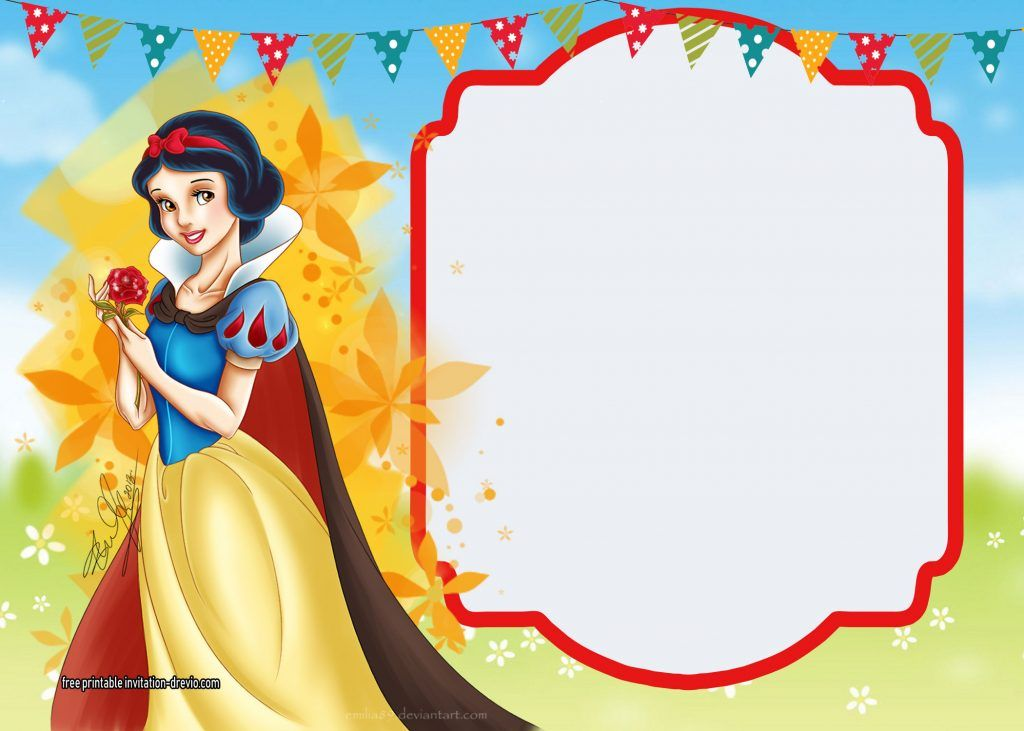 Free Printable Snow White Invitations Complete Edition Snow