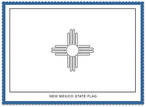 State Flag Coloring Pages By Usa Facts For Kids Flag Coloring Pages New Mexico State Flag State Flags
