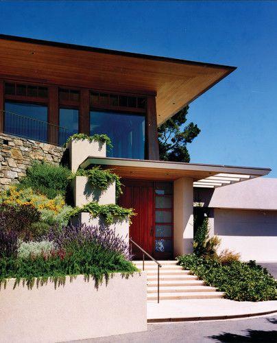 Modern Atlanta Landscape Ideas Designs Remodels Photos: Modern Home Wood Eaves Design, Pictures, Remodel, Decor