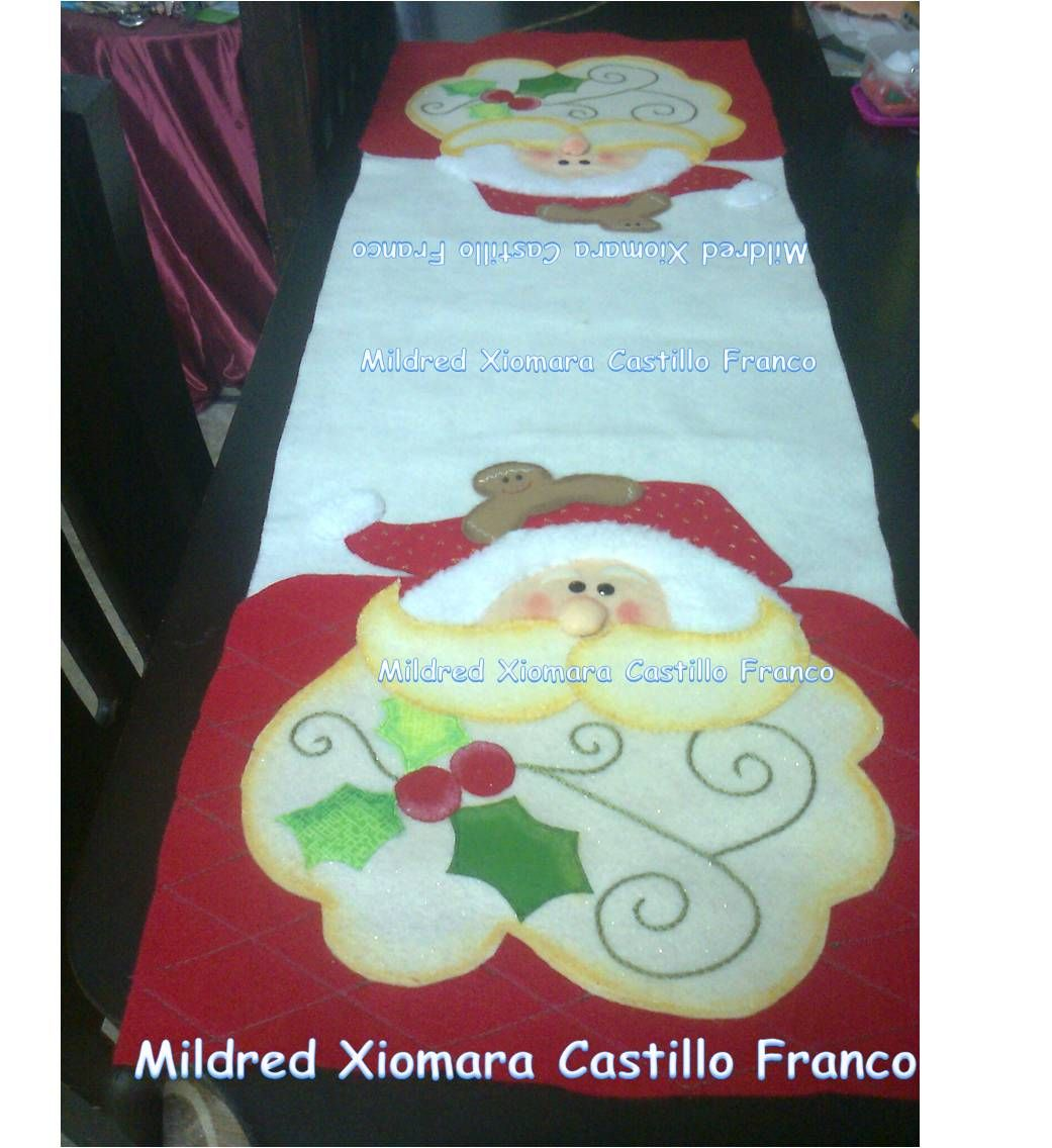 Camino de Mesa Navideño - Decoración Navidad 2013 ♥