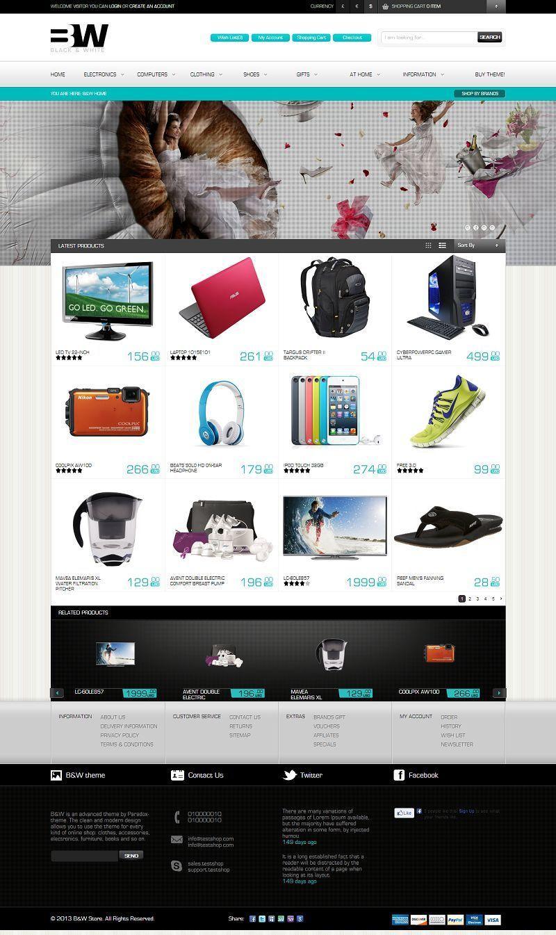 B and W - Responsive Magento eCommerce Theme Ecommerce Web Design 97cf763dae