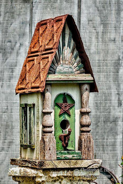 rustic birdhouse art print by christopher holmes i ll have a rh pinterest com birdhouse artis birdhouse art project