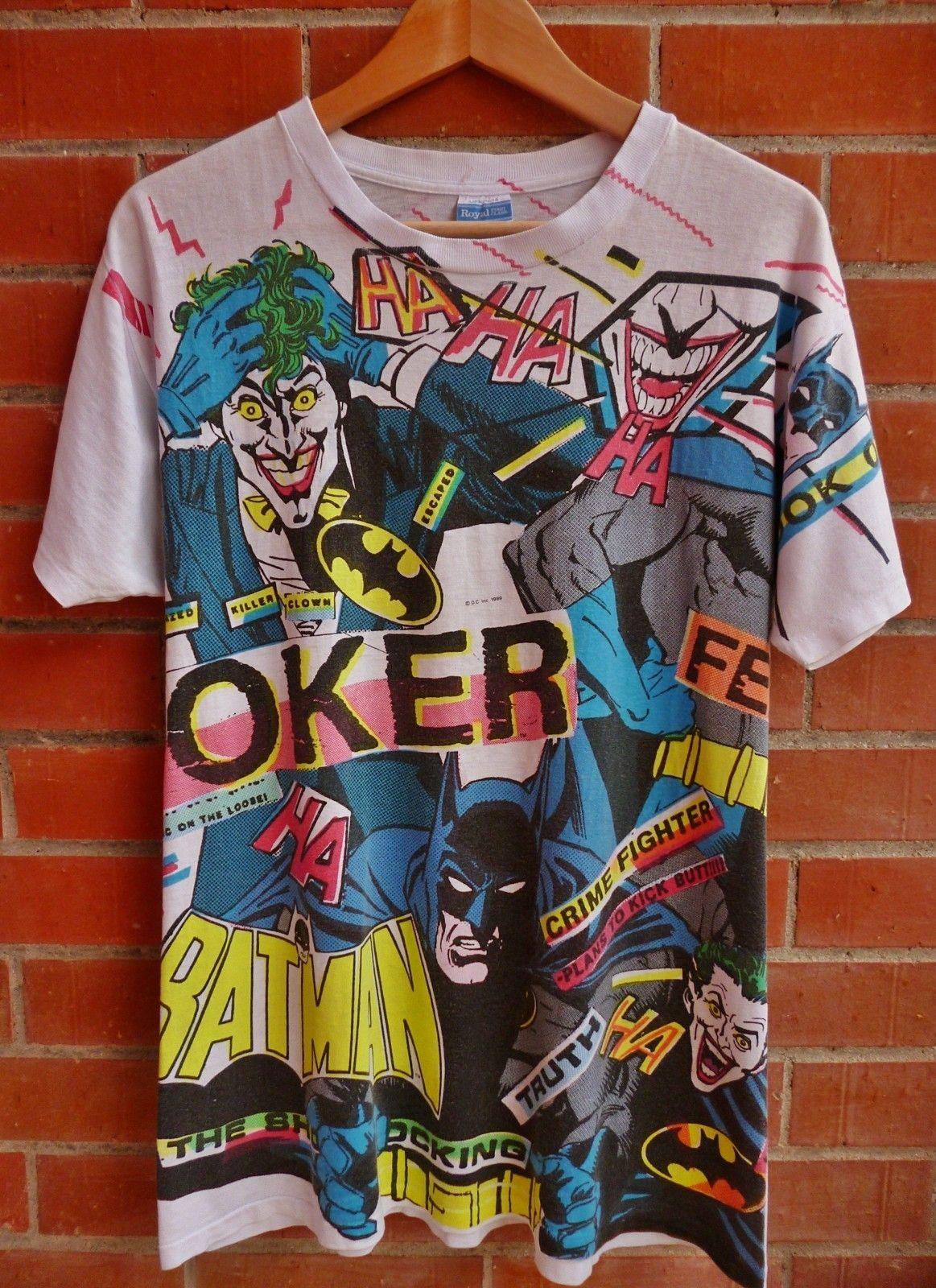 VINTAGE 90s Superman T-Shirt Rare Out of Print DC COMICS NEW Collectible Batman
