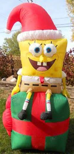 Discount SpongeBob Christmas Inflatable Yard Decorations | Christmas ...