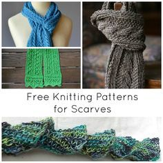 Are you ready for the winter chill? Whip up these free knitting patterns for scarves before the temperature drops! On Craftsy!