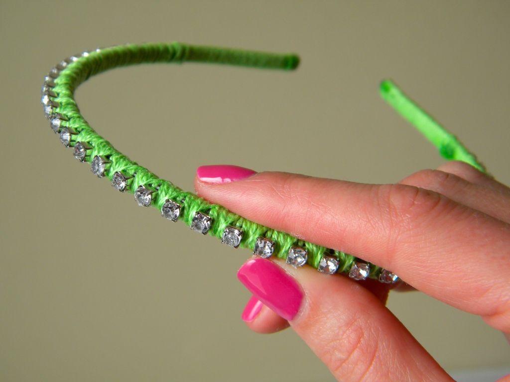 How to make a rhinestone headband from a cheap plastic one! 19de9e2bb08