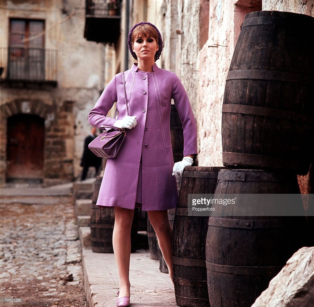 1968, A picture of British actress Joanna Lumley modeling ...