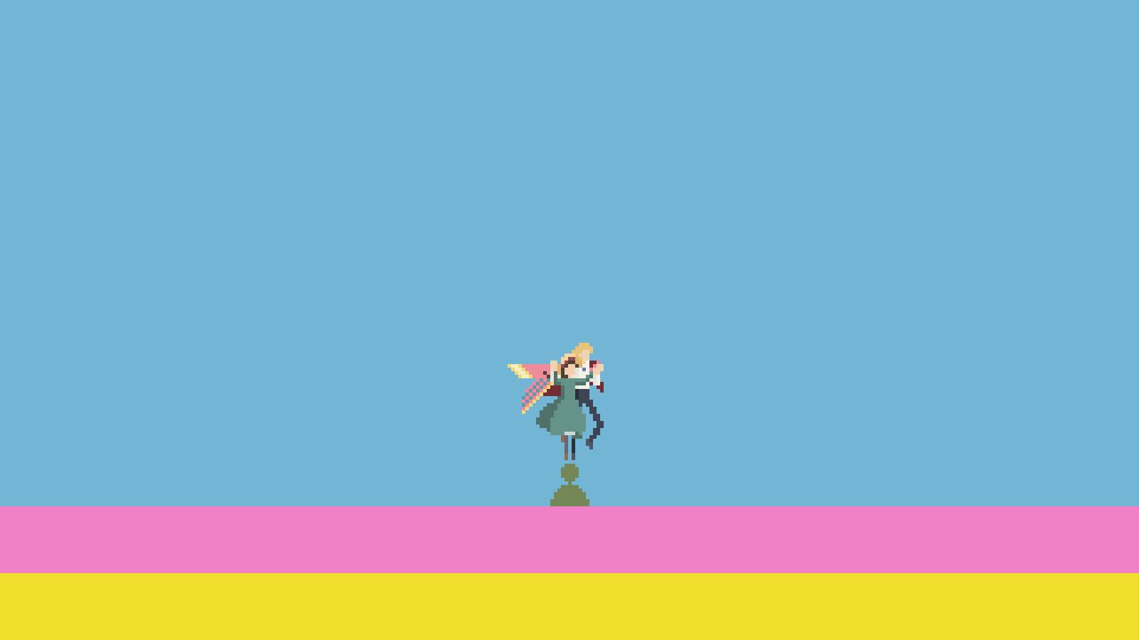 Pixel art wallpaper Howl's Moving Castle (3