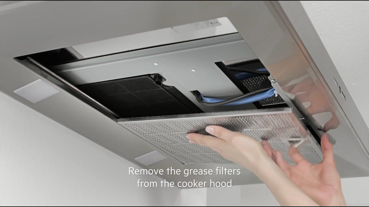 How To Change Your Aeg Cooker Hood Filter Carbon Filter Cooker Hood Filters Cooker Hoods Aeg