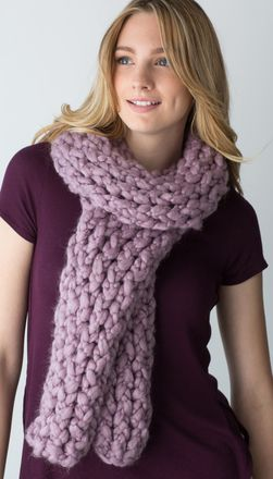 Simple Wrap Chunky Scarf | Loom knitting, Loom knitting ...