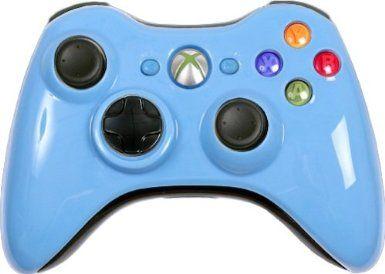 Amazon.com: 11 Mode Rapid Fire Xbox 360 Wireless Controller - Light Blue Controller Includes Adjustable Rapid Fire, Controller Compatible wi... #xbox360controller #customxbox360controller #moddedxbox360controller #customcontroller #moddedcontroller