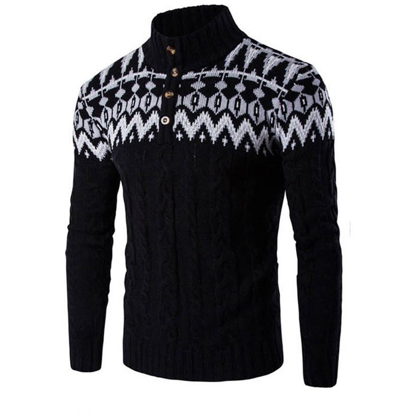 Delicate Hot Men 's Hooded Nail Wind Neck Sweater Jacket Blouse Chaqueta de viento sueter Nov4