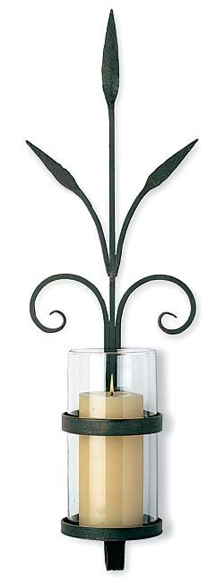 Wall Flower Sconce with Glass