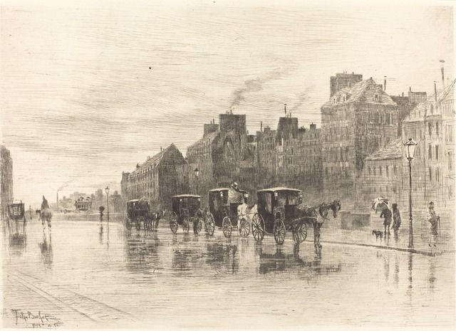 Félix Hilaire Buhot, 'Une Matinée d'hiver au Quai de l'Hôtel-Dieu,' 1876, National Gallery of Art, Washington, D.C.