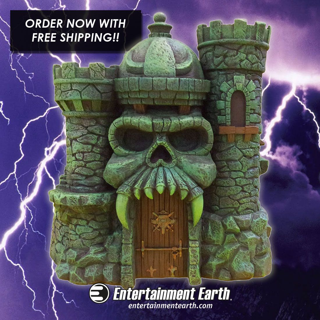 Hang out with He-Man at Castle Grayskull! Statue based on the original He-Man and the Masters of the Universe TV show. Designed to show off rarely seen parts of the Sorceress' castle! Order today with FREE Shipping!