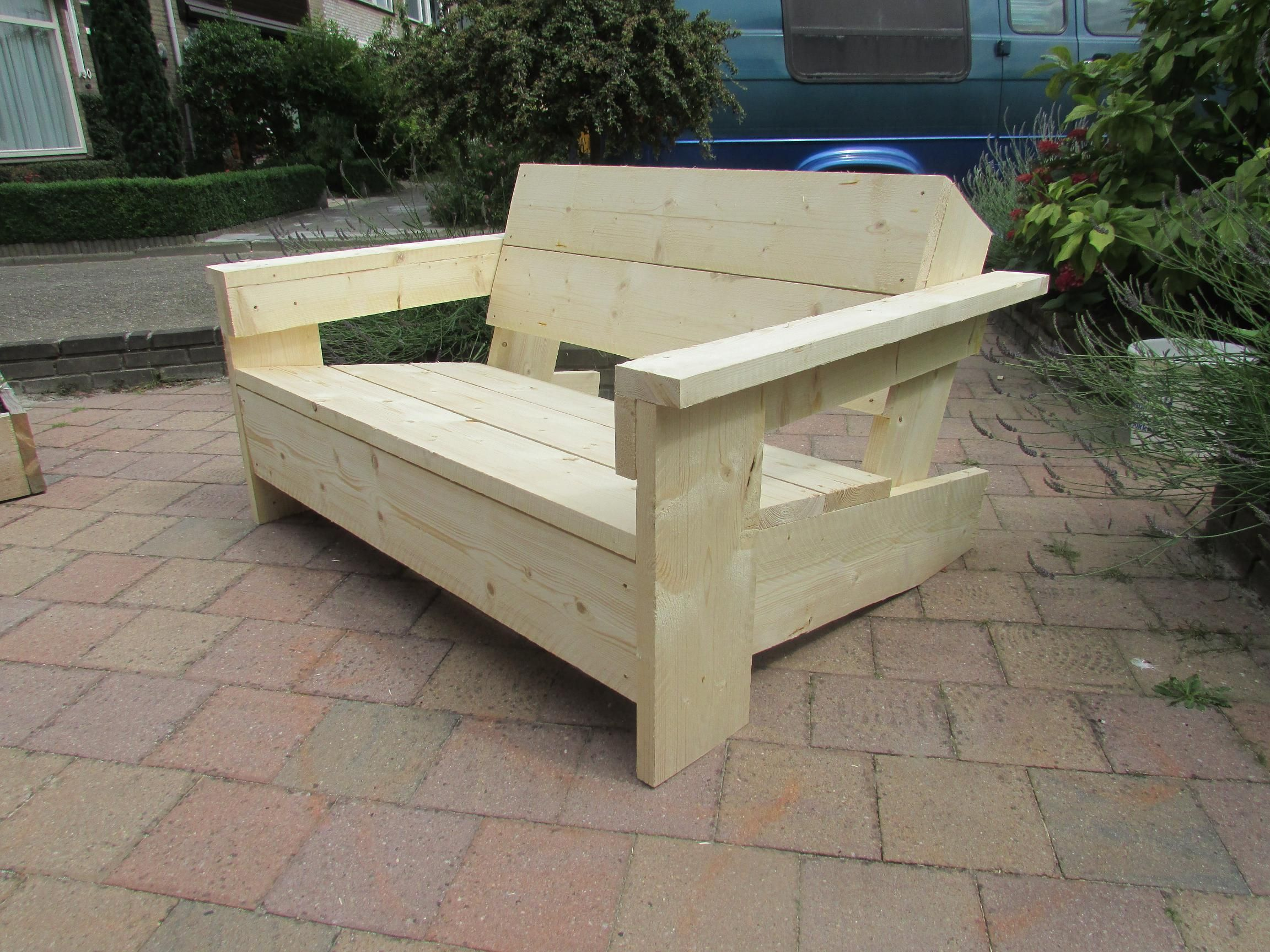 Bouwtekening Steigerhout Bouwtekening Relax Loungestoel Bank To Build Diy Furniture