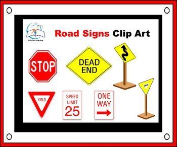 Road Signs Clip Art
