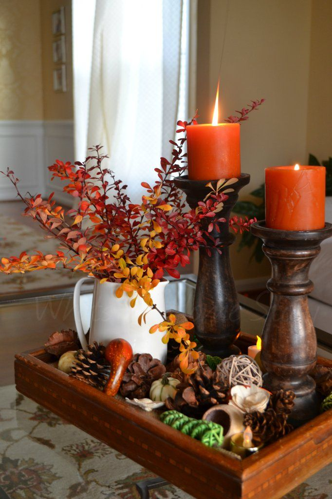 10 Clever Thanksgiving Table Decorations  Centrotavola di autunno