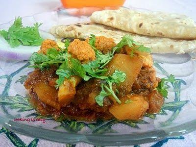 Cooking Is Easy: Punjabi spicy-hot aloo-gobi/Cauliflower and aloo step-by-step method.