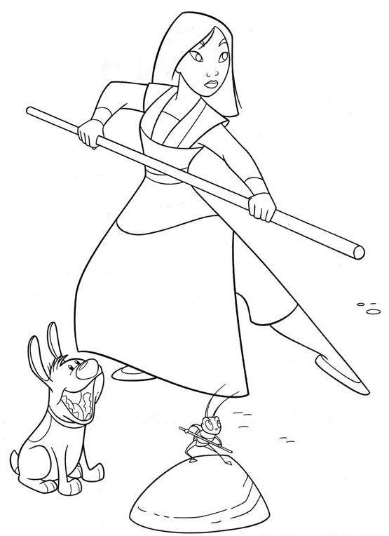 Explore Disney Coloring Pages And More Mulan Entrenando