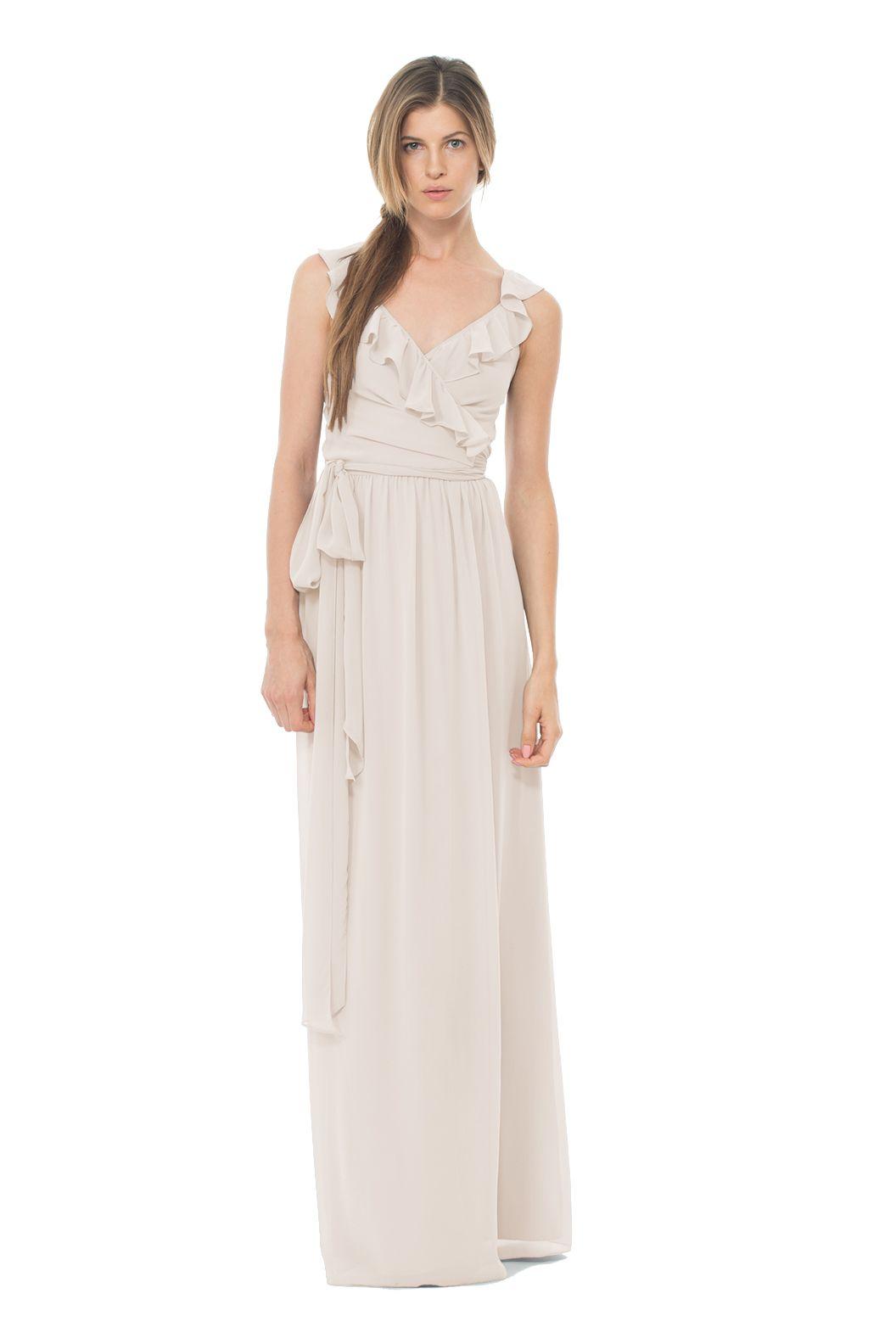 Shop joanna august bridesmaid dress lacey long in chiffon at